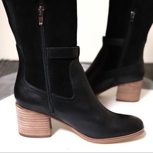 Marc Fisher Shoes - Marc Fisher Eisa Over The Knee Black Leather Boots